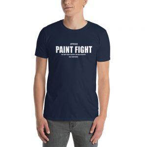 Attitude Paint Fight Short Sleeve Unisex T Shirt