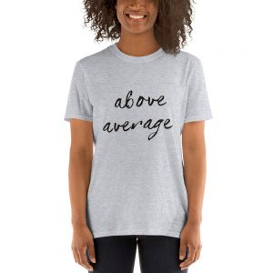 mockup 3962d4c2 300x300 - Above Average Short-Sleeve Unisex T-Shirt