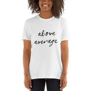 mockup 3b42d16b 300x300 - Above Average Short-Sleeve Unisex T-Shirt
