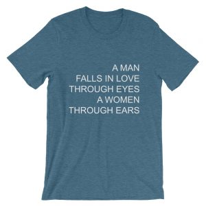 A man falls in love Short Sleeve Unisex T Shirt
