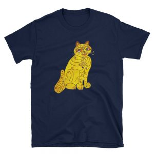 mockup 77704d83 300x300 - Abba Yellow Cat Short-Sleeve Unisex T-Shirt