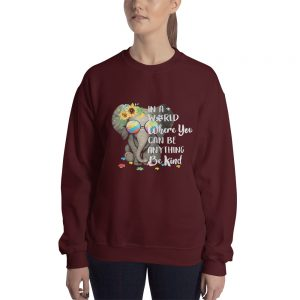 Autism Elephant in a world Sweatshirt