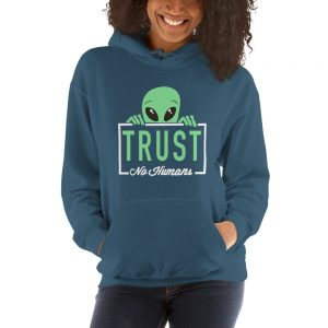 mockup 9bb15a8b 300x300 - Alien trust no humans Hooded Sweatshirt