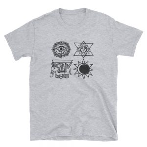 Ancient religion symbol Short Sleeve Unisex T Shirt