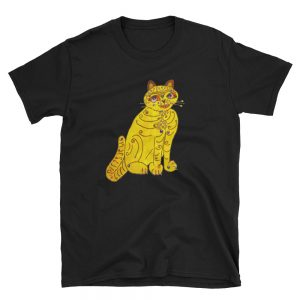 Abba Yellow Cat Short-Sleeve Unisex T-Shirt