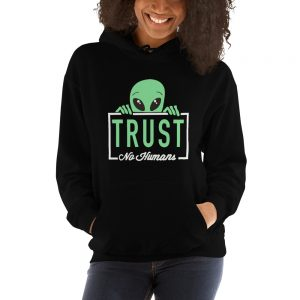 mockup dec2594b 300x300 - Alien trust no humans Hooded Sweatshirt