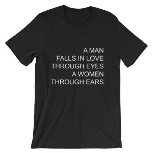 A man falls in love Short-Sleeve Unisex T-Shirt
