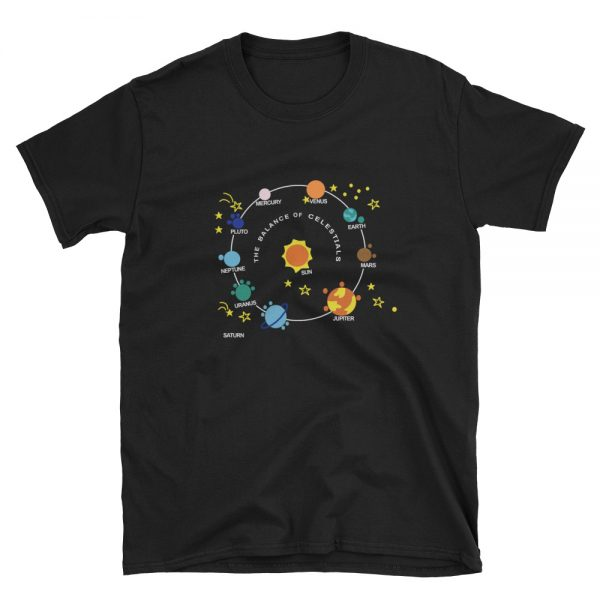 The Balance Of Celestials Short Sleeve Unisex T Shirt