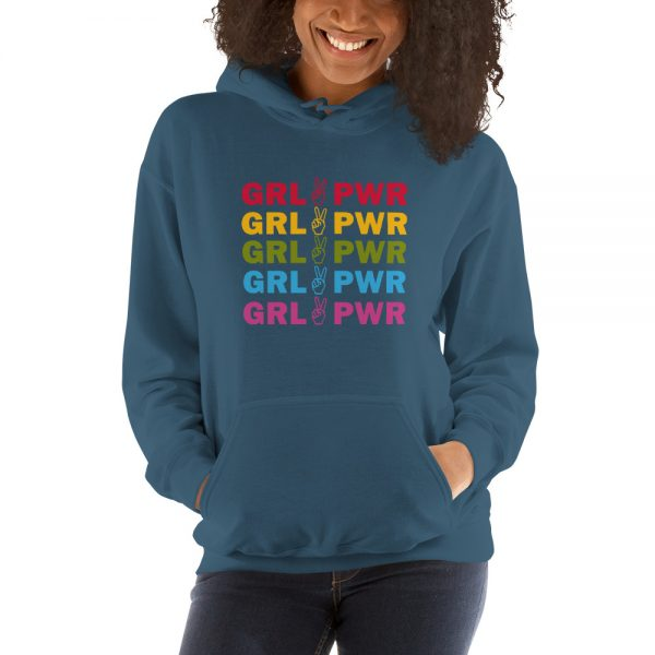 Grl Pwr Rainbow Girl Power Hooded Sweatshirt