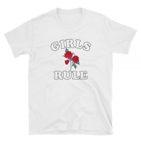 Rose Girls Rule Short Sleeve Unisex T Shirt