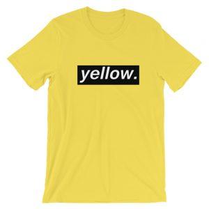 yellow Short-Sleeve Unisex T-Shirt
