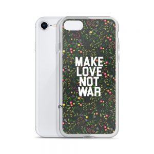 Make Love Not war Tropics iPhone Case