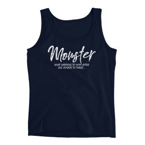 Momster mom live Anvil 882L Ladies Missy Fit Ringspun Tank Top with Tear Away Label