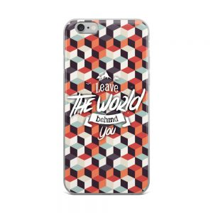 Leave the world behind iPhone Case