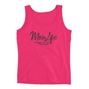 Mom life Anvil 882L Ladies Missy Fit Ringspun Tank Top with Tear Away Label