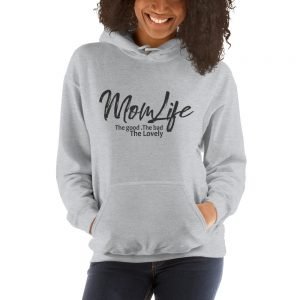 Mom life the good the bad the lovely Gildan 18500 Unisex Heavy Blend Hooded Sweatshirt