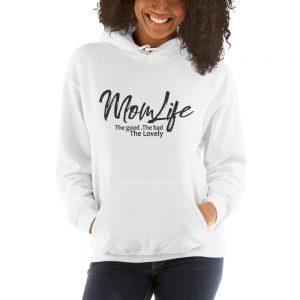 Mom life the good the bad the lovely Gildan 18500 Unisex Heavy Blend Hooded Sweatshirt