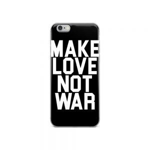 mockup 2dd0b5b2 300x300 - Make love not war iPhone Case