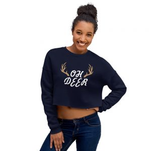 Oh Deer Crop Sweatshirt