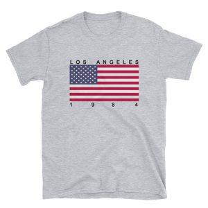 mockup 4dbf964a 300x300 - Los Angeles 1984 Flag Short-Sleeve Unisex T-Shirt