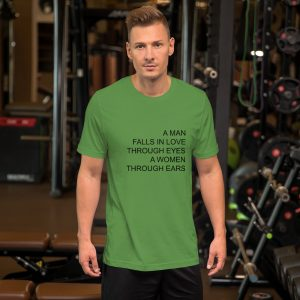 a man falls in love T Shirt