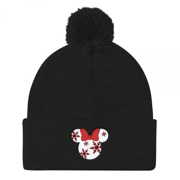 Christmas mickey Pom Pom Knit Cap