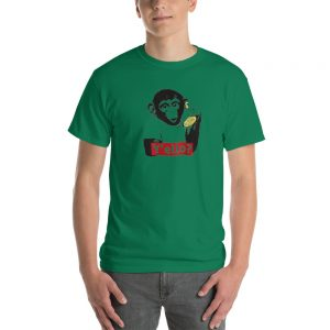 Monkey With Banana Short Sleeve T Shirt
