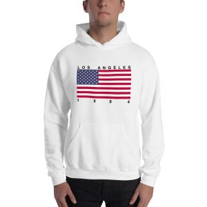 mockup f9563c63 300x300 - Los Angeles 1984 Flag  Hooded Sweatshirt