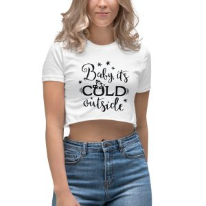 mockup 03225e57 300x300 - Baby its cold outside Women's Crop Top