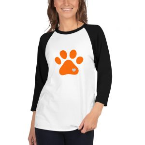 mockup 0fa4c34e 300x300 - Animal lovers paw print heart dog 3/4 sleeve raglan shirt
