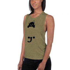 mockup 18c6476f 300x300 - black cat Ladies Muscle Tank