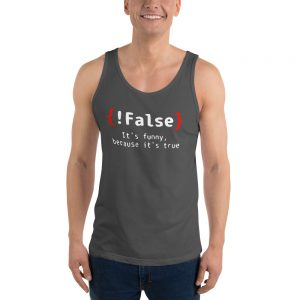 mockup 194e82dc 300x300 - False It's Funny Because It's True Unisex Tank Top