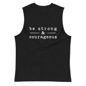 mockup 22477f31 300x300 - Be strong courageous Muscle Shirt
