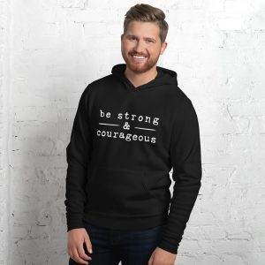 mockup 38f8e484 300x300 - Be strong courageous Unisex hoodie