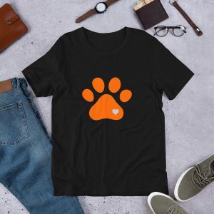 mockup 3fe017fc 300x300 - Animal lovers paw print heart dog T Shirt