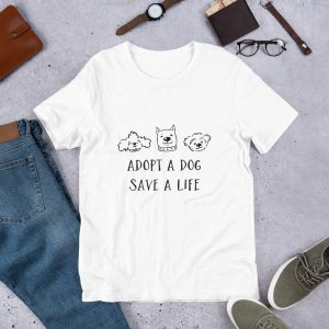 mockup 43a76f3c 300x300 - Adopt a puppy pet adaption T Shirt