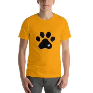 mockup 4ed98578 300x300 - Animal lovers paw print heart dog T Shirt