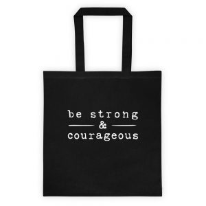 mockup 52f86aba 300x300 - Be strong courageous Tote bag