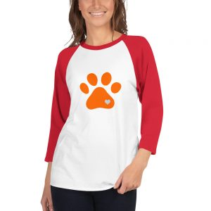mockup 590b50c9 300x300 - Animal lovers paw print heart dog 3/4 sleeve raglan shirt