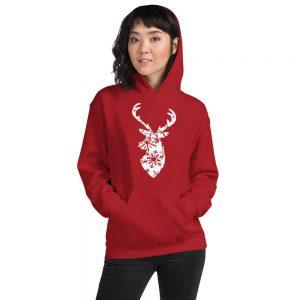 mockup 5c763bd7 300x300 - Christmas deer Hooded Sweatshirt