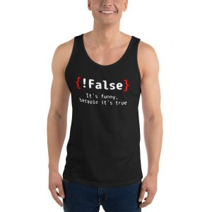 mockup 645e4ae9 300x300 - False It's Funny Because It's True Unisex Tank Top