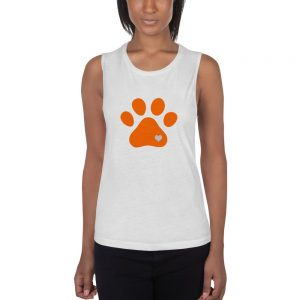 mockup 9d1cc15a 300x300 - Animal lovers paw print heart dog Ladies Muscle Tank