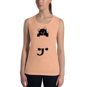 mockup a5988919 300x300 - black cat Ladies Muscle Tank