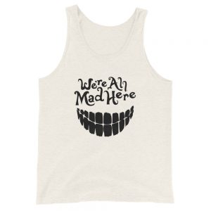 mockup a8b9699f 300x300 - We are all mad here Unisex  Tank Top