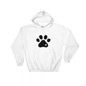 mockup ab352149 300x300 - Animal lovers paw print heart dog Hooded Sweatshirt