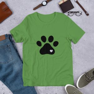 mockup c02b1cbc 300x300 - Animal lovers paw print heart dog T Shirt