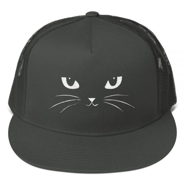 Cat Face Mesh Back Snapback