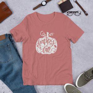 happy fall white pumpkin T Shirt