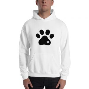 mockup f7f9d454 300x300 - Animal lovers paw print heart dog Hooded Sweatshirt