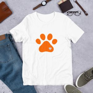 mockup f8a2fd00 300x300 - Animal lovers paw print heart dog T Shirt